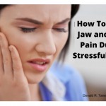 jaw and face pain stress, TMJ